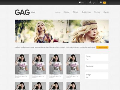 Gag  layout store t-shirt wordpress
