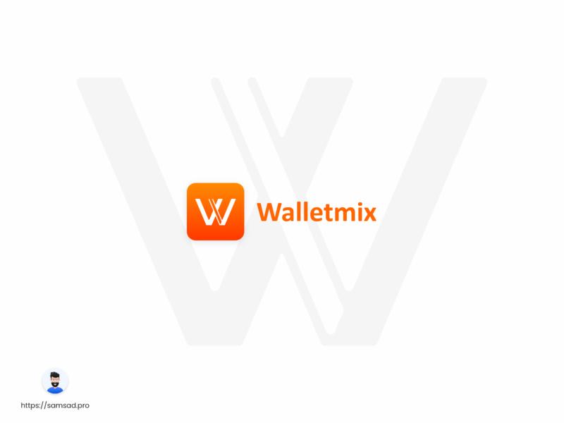 Walletmix Logo Redesign color typography typeface color palette branding design brand identity brand design branding brand logodesign logos logotype logo design logo ux ui  ux ui design design ui