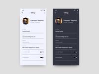 DailyUI #007: Profile Settings