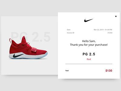 DailyUI #017: Email Receipt payment receipt shoe email receipt shoe shoes ui design email receipts receipt email receipt dailyui 017 dailyui017 dailyui