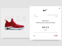 DailyUI #017: Email Receipt