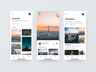 Unsplash Redesign App Concept