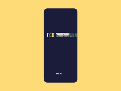Flights search blue yellow aftereffects uidesign minimal iphone booking flights travel gif video clean design ux ui concept transitions animation app