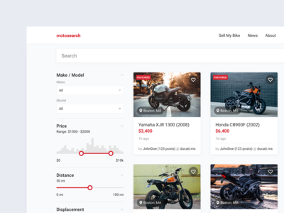 Motorcycle search