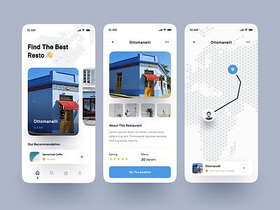 Restaurant Finder Apps map resto restaurant finder uxdesign ux design ui design apps uidesign userinterface