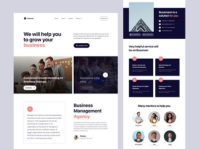 Bussman - Business Management Website Landing Page web user interface marketing business web design website