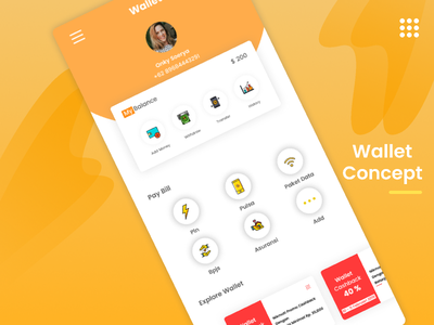 Wallet Concept mobile uxdesign uidesign userinterface android apps wallet
