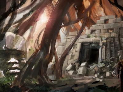 Digital Illustration: Lost Temple