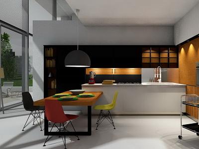 Kitchen maxoncinerender archicad 3dvisualization visualization interiordesign