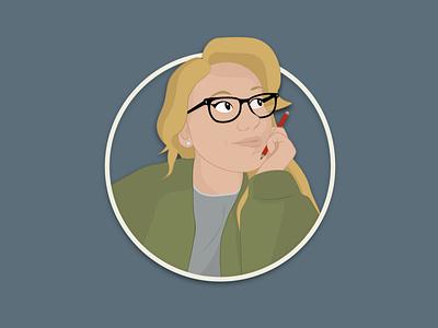 New Icon illustration design selfportrait icon grapic illustration