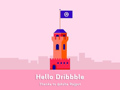 Hello Dribbble invitation @asha rajput thank you mindinventory hello dribbble debut first shot hello