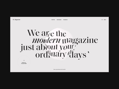 W.Magazine Website | Random Page Animation