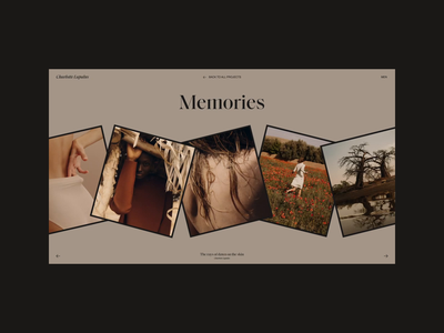 Charlotte Lapalus Website | Gallery of Memories photo gallery grid motion video animation typography website web ux ui