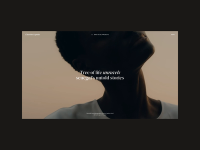 Charlotte Lapalus Website | An Article Page scroll article motion video animation typography website web ux ui