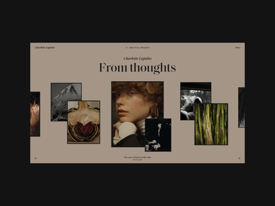 Charlotte Lapalus Website | Gallery photos promo gallery motion video animation typography website web ux ui