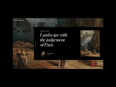 Artence Magazine | Image Page Animation motion video animation typography website web ux ui