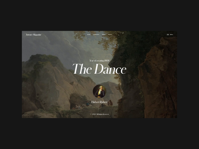 Artence Magazine | Picture Animation motion video animation typography website web ux ui