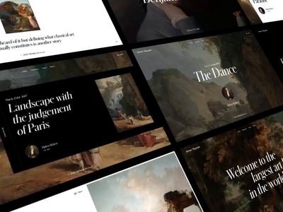 Artence Magazine All Pages motion video animation typography website web ux ui