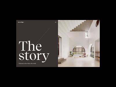 m.vertigo | The Story liquid motion video animation typography website web ux ui