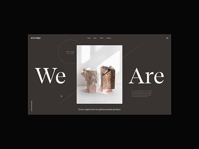 m.vertigo | Homepage homepage motion video animation typography website web ux ui