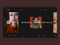 Minimalism dark | Website template