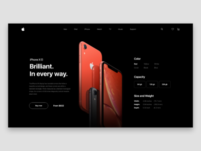 iPhone XR page