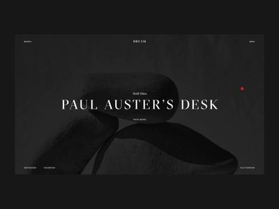 Dream Magazine Homepage and Menu | Animation