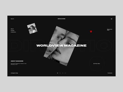Worldview Magazine Homepage + animation