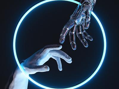 NeoBodies dark mode machine learning artificial intelligence cybersecurity cyberpunk robotics robot human machine c4d 3dartist 3dart octanerender illustration cinema4d 3d