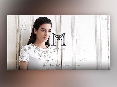 MARAM PARIS luxury identity fashion art direction webdesign