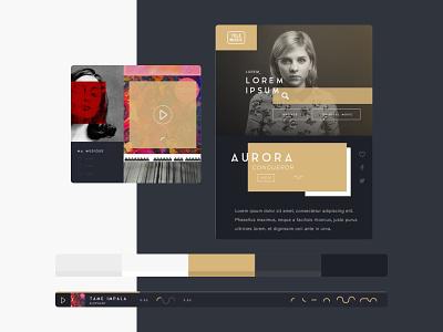 TeleMusic evade mood moodboard player musique music brand interface ux ui da art direction