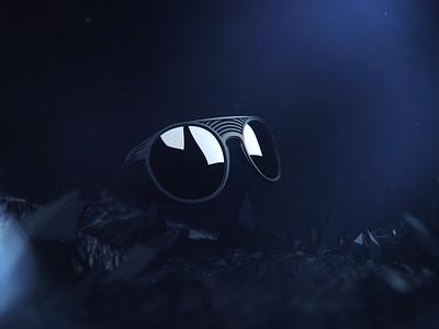 Parasite Eyewear product design dark mode motion design cinematic cgi brand glasses eyewear 3d cinema4d octane render