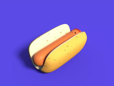 HotDog cartoon cartoon character 3d motion 3d animation octane render cinema4d hot ketchup sausage octanerender houdini cinema 4d 3d character animation character design character food hotdog