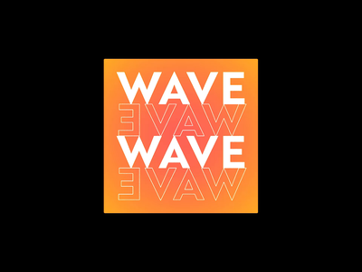 WAVE EVAW FLAG 60fps flag loop kinetictypography typogaphy kinetic kinetictype font houdini c4d cinema4d art direction brand 3d motion