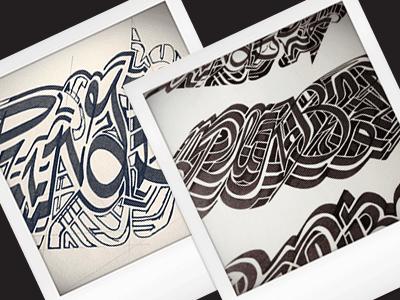 Plin[g]bel • (13-M80) partial lettering typography ink marker graffiti sketch photo old school hand drawn hand lettering sketch © shockjoy plingbel