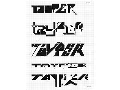 TAYPER (11-P028) sketch tayper lettering typography ink marker © shockjoy hand lettering old school hand drawn