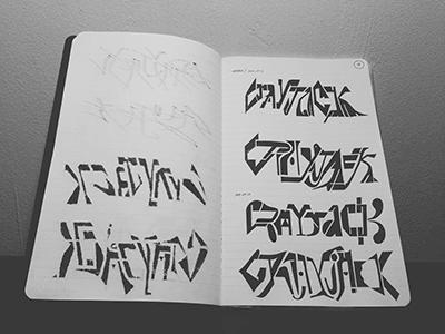 CRAYJACK • (13-M10) crayjack lettering typography marker sketch ink © shockjoy hand lettering hand drawn old school sketch photo vsco