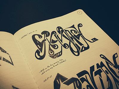 CRAYJACK • (13-M11) partial lettering typography marker sketch ink © shockjoy hand lettering hand drawn old school sketch photo vsco