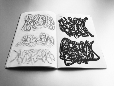 Vision Bevel • (14-M25)  2014-0707 sketch typography lettering marker vsco ink vision bevel hand lettering © shockjoy sketch photo hand drawn