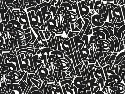BOFP  black hand lettering lettering marker ink pattern © shockjoy