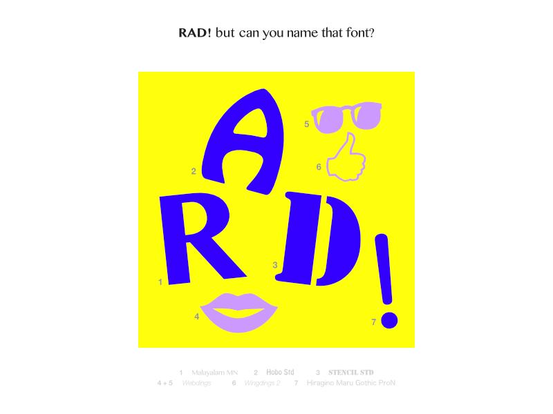 Pleasing Rad 80S Edition Font Quiz By Shockjoy Dribbble Dribbble Interior Design Ideas Clesiryabchikinfo