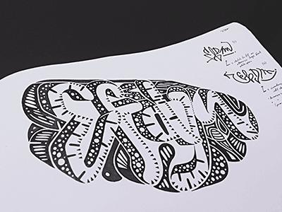 Efdm • (13-M77) vsco graffiti sketch marker ink typography lettering sketch photo old school hand lettering hand drawn © shockjoy efdm