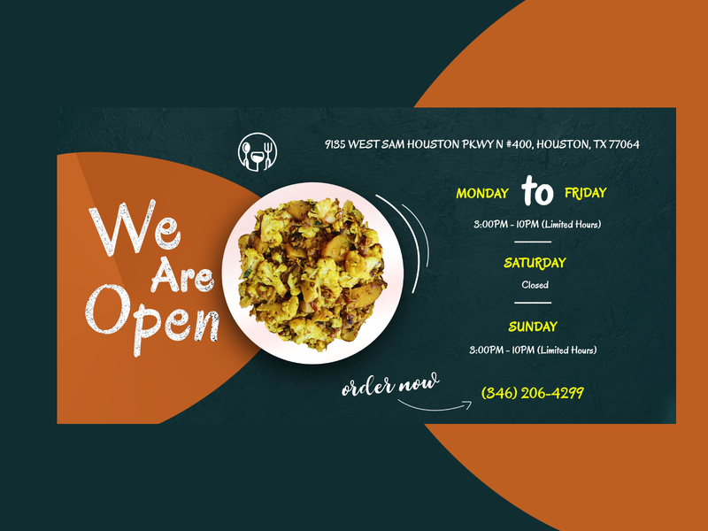 Reopening restaurant Banner food open photoshop branding business restaurants banners banner design colorful creativedesign graphicdesign