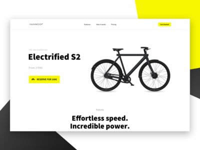 VanMoof Electrifed S2 Landing Page