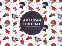 American Football Vector Free Pattern typography pattern vector freebie free graphics