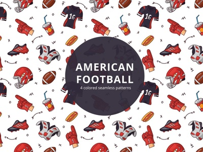 American Football Vector Free Pattern typography pattern vector freebie free graphics