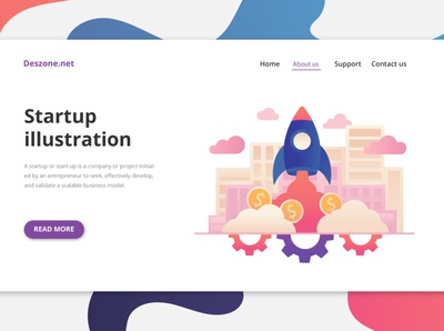 Startup Vector Free Illustration startup design illustration typography vector freebie free graphics
