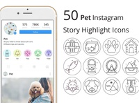 Pet Instagram Story Highlight Icons Pack instagram story illustration icons typography vector graphics