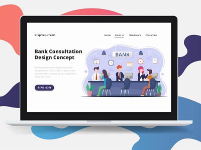 Bank Consultation Vector Design Concept illustration graphicsurf graphics graphicdesign