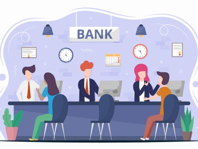 Bank Consultation Vector Design Concept illustration graphicsurf graphics graphicdesign